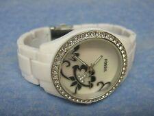 Women's FOSSIL Water Resistant Gemmed Watch w/ New Battery
