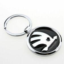 3D Chrom Auto Logo Schlüsselanhänger keyring für SKODA (Kostenloser Versand)