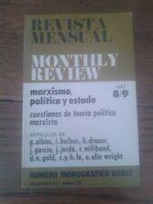 MONTHLY REVIEW vol. 1 - nº 8/9. MARXISMO, POLÍTICA Y ESTADO