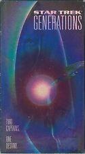 Star Trek Generations (VHS Tape, 1995) William Shatner Patrick Stewart