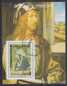 Art Dürer 1989 Sao Tome E Principe Block, Postmarked, Used