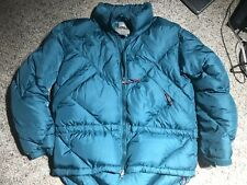 Eastern Mountain Sports Goose Down Puffer Jacket Women's Blue Teal Size 8 Ski