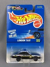 1997 Hot Wheels Package Error City Police Car And Shell On London Taxi Card