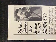 m5-3a ephemera 1970/s film article richard johnson author hennessy
