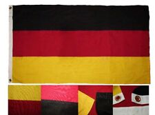 3x5 Embroidered Germany Plain Country Cotton Flag Large 3'x5' Banner Grommets