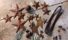 33 Piece Rusty Metal Stars Bells Wire Sample Lot Country Rusted Craft Supplies