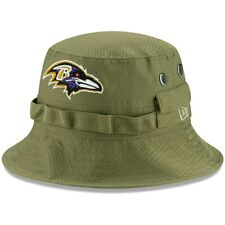 Baltimore Ravens New Era 2019 Salute to Service Sideline Bucket Hat - Olive