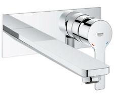 GROHE LINEARE Single LEVER CONCEALED 2 TAP HOLE BASIN MIXER TAP WALL MOUNTED