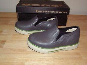 NEW Boys Bogs Burnside Gray Sz 9T Charcoal Slip On Rubber Rain Boots Girls Muck