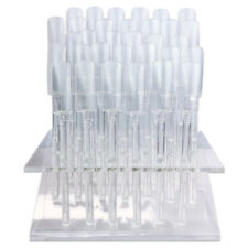 32 UV Gel Acrylic Clear Art Tip Nail Samples Pop Sticks with Display Stand