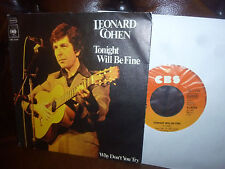 """Leonard Cohen, Tonight Will Be Fine, Wy Don't You Try, CBS 3524 German, 7"""" 1975"""