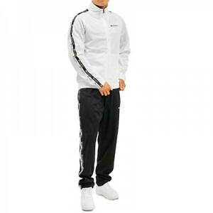 Champion Men Tracksuit Athletic Gym Casual White Polyester Clothing 215984-WW001