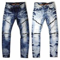 Copper Rivet Men's Slim Fit Premium Wash Basic Biker Jeans Pants