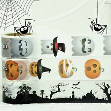 HALLOWEEN Paper Washi Masking Tape Adhesive Roll Decorative Trim Wide Roll