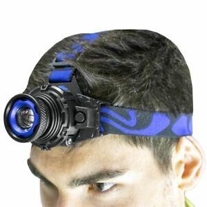 Portable Head Torch LED Rechargeable Headlamp Headlight 350 Lumen Very Bright -