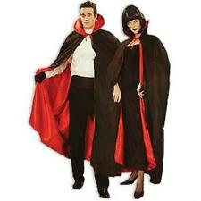 """Deluxe Black and Red 56"""" Fully Lined Tattered Vampire Dracula Devil Costume Cape"""