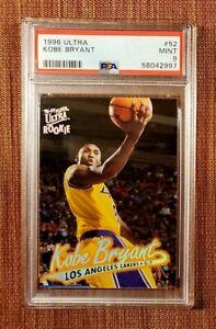 1996 Ultra #52 Kobe Bryant Los Angeles Lakers Rookie Basketball Card PSA 9 MINT!