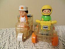 Vintage Toy 1988 Playskool Go-Go Gears Ice Cream Cart & Atv With 2 People /Work!