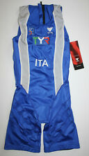 Tyr Men Xs Royal Blue White Tracer Zipperback Shortjohn Itu Rare Italy Model New
