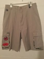 Vintage 90s JNCO Jeans Khaki Cargo Shorts Men's  Size 36 Waist Patches Awesome