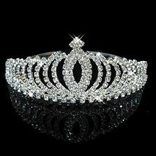 Wedding Bridal Flower Girls crystal Prom Pageant Prom tiara crown headband