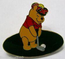 Disney Wdw Winnie the Pooh Bear Golfing Pin