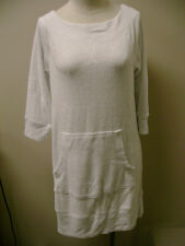 Sutton Studio White Terry Cotton Tunic Cover Up S NWOT