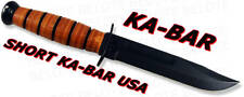 Ka-Bar Knives Short KaBar USA Fixed Bld w/ Sheath 1251