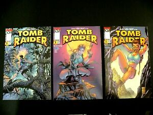 Tomb Raider #1 x3 Lot all Different Covers average NM-