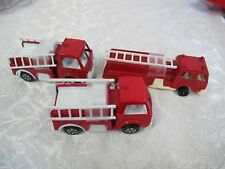"""TOOTSIE TOY 70'S VINTAGE FIRE TRUCKS ENGINES (3) REMOVABLE  DOUBLE LADDERS 4"""" 5"""""""