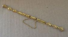 Color de Oro Vintage nos señoras watchstrap, 3 Adj, Broche De Cierre/Cadena de seguridad.