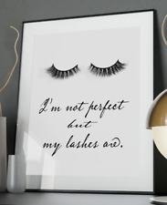 Perfect Lashes Inspirational Quote Poster Art Print A6-A0 Decor Gift Love Wife