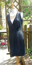 robe effet cache cœur froncé noire 42/44 féminin tendance!