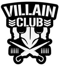 The Villain Club Marty Scurll The Bullet Club Elite Vinyl Car Decal NJPW ROH WWE