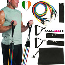 Resistance Bands Exercise Set 11pc 5 Tubes With Handles Door Anchor, Ankle Strap