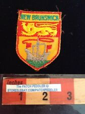 Patch New Brunswick shield with lion travel souvenir Canada 58RR