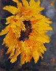 ACEO ATC Signed Print Sunflower Sunflowers Flower Art Card Artist Trading Card