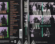 SONIA DADA LIVE -AT THE EDGE OF THE WORLD -VHS -PAL -NEW & SEALED - Never played