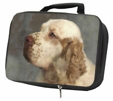 More details for clumber spaniel dog black insulated school lunch box bag, ad-cs1lbb
