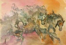 Original Horse Watercolor Painting