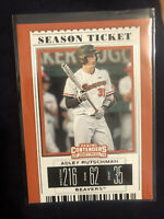 2019 Contenders Draft Picks Adley Rutschman Season Ticket ORIOLES BEAVERS #1