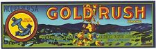 *Original* GOLD RUSH 49'er Nuggets Tulare Exeter Grape Label NOT A COPY!