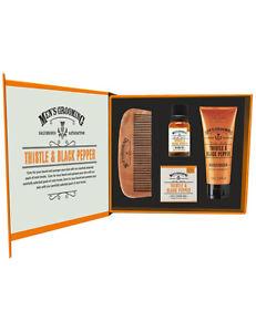 The Scottish Fine Soaps Company Moisturiser Beard Oil Comb Face & Beard Care Kit