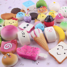 Soft Food 10pcs Squishy Charms Kawaii Squishies Cake Phone Straps Charm Toy Gift