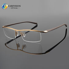 Half Rimless Titanium Eyeglass Frame Men Spectacles Glasses Optical Eyewear Rx