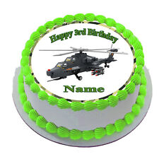 ARMY Helicopter TOYS  Edible  CAKE TOPPER PARTY IMAGE FROSTING SHEET