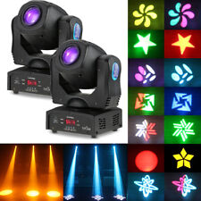2Pcs Tomshine 80W Dmx512 Moving Head 14Color Gobos Stage Lighting Dj Party Light