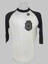 Vintage 1981 The Police Sting Tour Band Baseball Raglan Shirt & Button Size L