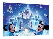 Disney Castle 30x20 Inch Canvas Mickey Minnie Mouse Christmas Picture Christmas