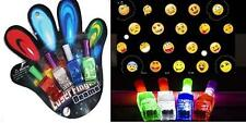 2 SETS EMOJI LIGHT BEAM PROJECTOR FINGER RINGS lightup emojis funny faces ring